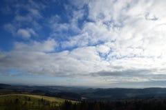 在Jeseniky山的秋天 库存照片