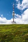 在Jeseniky山的Praded小山在捷克共和国 免版税库存图片