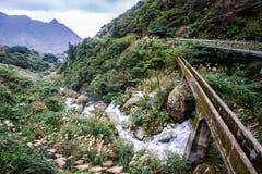 在jinguashi,台北,台湾的山景 免版税库存图片