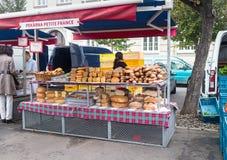 在Jiriho z Podebrad的面包柜台 免版税库存照片
