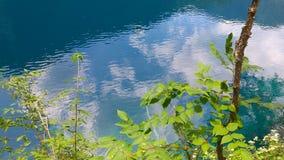 在JIU ZAI勾的绿色湖水 免版税库存照片