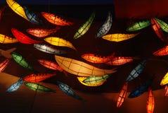 在Jogyesa寺庙的鱼灯笼 图库摄影