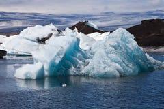 在Jokulsarlon的冰山 库存照片