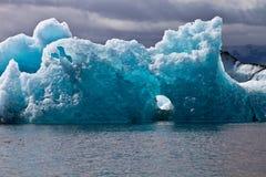 在Jokulsarlon的冰山 免版税库存图片