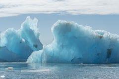 在Jokulsarlon的冰河冰 库存照片