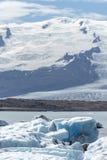 在Jokulsarlon的熔化的冰 免版税图库摄影