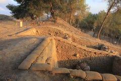 在Judeia小山的Tel Azeka 免版税库存图片