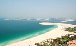 在Jumeirah掌上型计算机人造海岛的视图 图库摄影