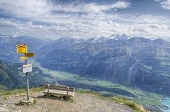 在jungfrau区域的看法 库存照片
