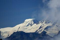 在Jungfraujoch,欧洲Sw上面的高山阿尔卑斯山风景  免版税库存照片