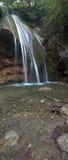 在jur-jur河的瀑布crymea的,乌克兰 免版税库存照片