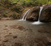 在jur-jur河的瀑布crymea的,乌克兰 库存图片