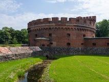 在königsberg的古老堡垒唐 免版税库存图片