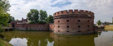在königsberg的古老堡垒唐 免版税库存照片