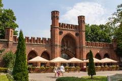 在königsberg的古老堡垒唐 库存图片