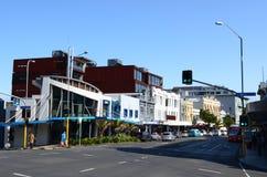 在K路的交通在奥克兰,新西兰 库存照片