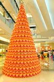 在K11购物中心,香港的圣诞树 库存照片