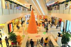 在K11购物中心,香港的圣诞节装饰 库存照片