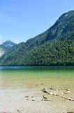 在KA¶nigsseee湖的心脏 免版税库存照片