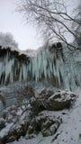 在kabarda republik caucausus山的瀑布在俄联盟的 免版税库存照片