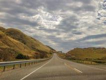 在Kaikoura附近的风景风景在新西兰的南岛 免版税库存照片