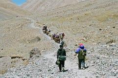 在kailash kora mt西藏附近 免版税图库摄影