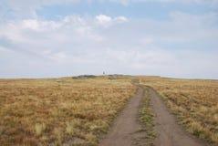 在Kajmakchalan峰顶的教会, WWI争斗的地方 免版税图库摄影