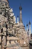 Kakku佛教寺庙-掸邦-缅甸 库存照片