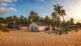 在Kalpitiya,斯里兰卡附近的村庄 免版税图库摄影