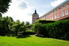 在Kamenice nad Lipou, Vysocina地区, Pelhrimov区,捷克的大别墅 免版税库存图片
