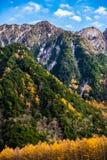 在Kamikochi的秋天 免版税图库摄影