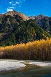 在Kamikochi的秋天 图库摄影