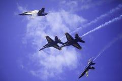 在Kaneohe Airshow的蓝色天使 免版税图库摄影