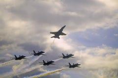 在Kaneohe Airshow的蓝色天使 图库摄影