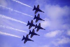 在Kaneohe Airshow的蓝色天使 库存图片