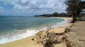 在Kapa ` a, Kaua `的海岸线海滩我, Hawai `我 免版税库存图片