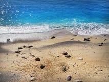 在Kaputas海滩的一个看法在从的土耳其 免版税图库摄影