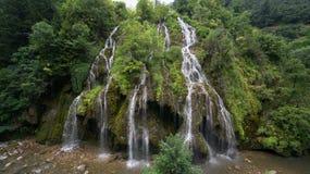 在Karadeniz省的Kuzalan瀑布 吉雷松-土耳其 库存图片