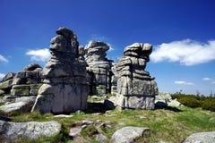 在Karkonosze山的岩石 库存照片