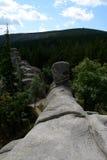 在Karkonosze山的Pielgrzymy岩石 免版税库存照片