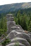 在Karkonosze山的Pielgrzymy岩石 图库摄影