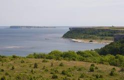 在Karlso island.JH的海岸 图库摄影