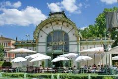 在Karlsplatz运输插孔的咖啡馆 图库摄影