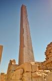 在Karnak寺庙的方尖碑 卢克索 埃及 库存图片