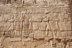 在Karnak寺庙的雕刻  免版税库存照片