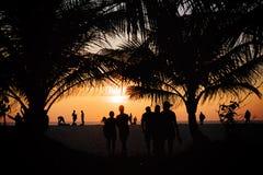 在Karon海滩普吉岛泰国的日落 库存照片