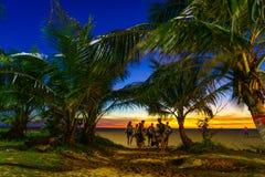 在Karon海滩普吉岛的日落 库存照片