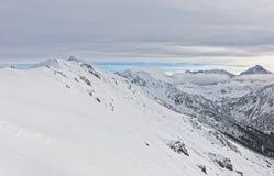 在Kasprowy扎科帕内Wierch的云彩在Tatra在胜利登上 免版税库存照片