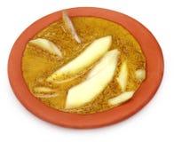 在kasundi –孟加拉美味的绿色芒果 库存照片