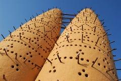 在katara,多哈,卡塔尔的鸽房 库存图片